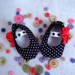Baby Ballet Shoes Polka Dot..