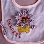 REVERSIBLE Handpainted Bib ..