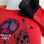 Ruffled Onesie Skull Art Gl..