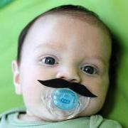 Mustache Boy Pacifier RED Johnny Depp Style