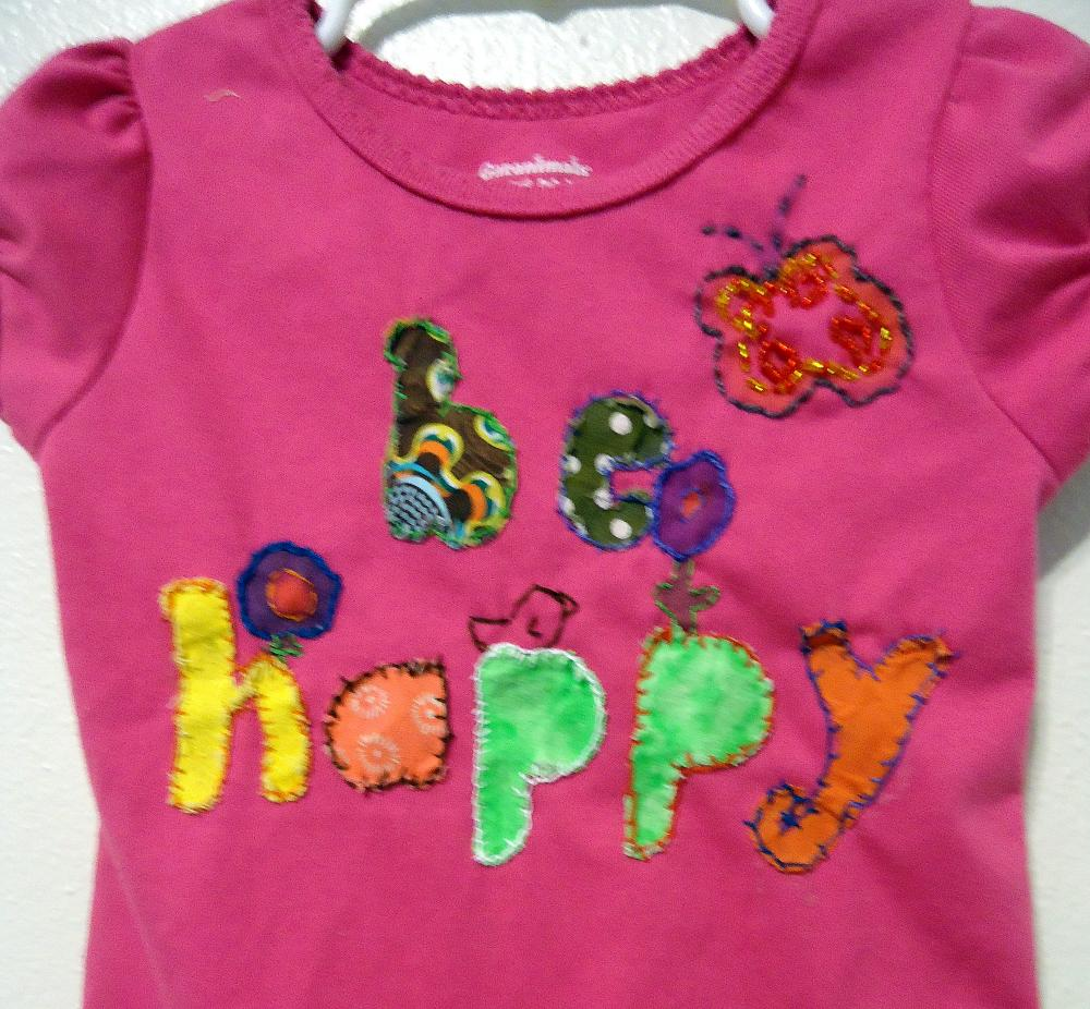 Upcycled Toddler Shirt Hand Embroidered With Matching Leggings