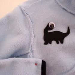 SPRING SALE CLEARANCE Handmade Reversible Jacket Boys Monster Motif