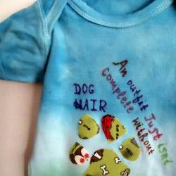 Summer Tie Dyed Onesie FUNNY With Dog Theme