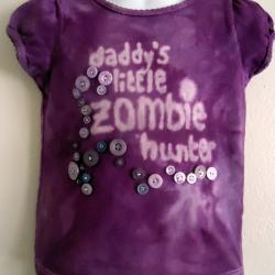 Tied Dyed Gothic T Shirt Purple Size 3 Toddler